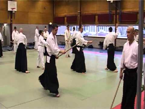 Basic Jo Exercise and Ken tai Jo in the Netherlands 2011.02