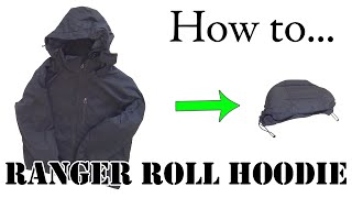 getlinkyoutube.com-Army Hack: Ranger Roll a Hoodie or Hooded Jacket - Efficient Packing for Travel