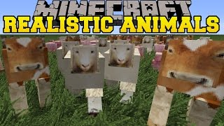 Minecraft: REALISTIC ANIMALS MOD (POOP, DISEASES, STARVATION, & MORE!)