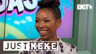 "getlinkyoutube.com-Just Keke: Brandy Surprises Show Host Keke Palmer, Talks Ending of  ""Moesha"""