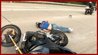 Motorcycle Accident Stunt Rider Knocks Himself Out Stunt Fail 2015