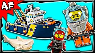 getlinkyoutube.com-Lego City Deep Sea Exploration Vessel 60095 Stop Motion Build Review
