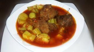 getlinkyoutube.com-طريقة عمل الكوسه المطبوخه باللحمة  Zucchini with meat