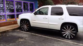 getlinkyoutube.com-2013 Yukon sitting on 26's inch Wheels and Tires at Rimtyme Jonesboro/South Atlanta