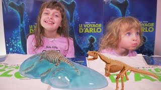 getlinkyoutube.com-[FILM & JOUET] Le Voyage d'Arlo & dinosaures - Studio Bubble Tea unboxing dinosaurs