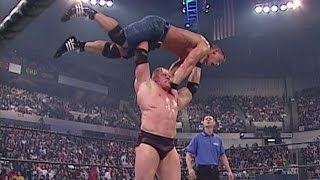 getlinkyoutube.com-Undertaker & Kurt Angle vs Brock Lesnar & John Cena low quality