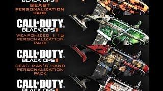 Top 5 Black Ops 2 DLC Camo packs (HD 1080P)