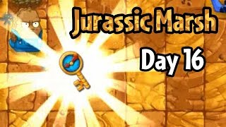 getlinkyoutube.com-Plants vs Zombies 2 - Jurassic Marsh Day 16: Ultimate Battle