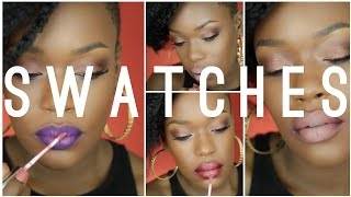 getlinkyoutube.com-@ColourPOPco (Lippie Stix) Swatches / combos for Dark skin