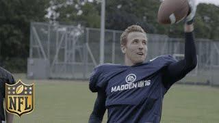 Tottenham Soccer Star Harry Kane Shows Off His American Football Skills | Madden 16 | NFL