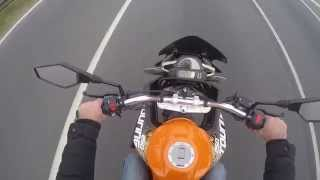 getlinkyoutube.com-Zongshen RX3 CORVEN TOURING 250 TOP SPEED PROBANDO a 164 km/h