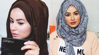getlinkyoutube.com-Get Ready With Me : Make-up Tutorial, Hijab Tutorial & Outfit of the day! | Hijab Hills