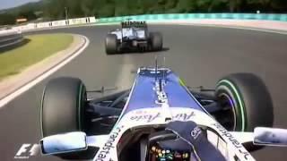 getlinkyoutube.com-Barrichello vs Schumacher Hungria 2010