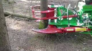 getlinkyoutube.com-Hydraulische Baumschere HBS 230; Tree Shear; Cisaille Forestière