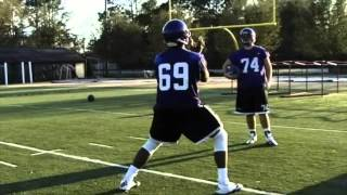 OL Drills- East Carolina University