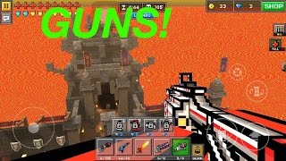 getlinkyoutube.com-Pixel Gun 3D How To Use Weapons In Knife Party Glitch