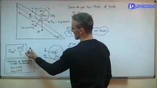 Imagen en miniatura para Rotación en un plano inclinado - Momento de inercia