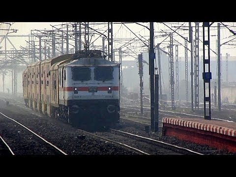 Blazing WAP-7 shows its Magic with tiny Dhanbad Double Decker !!!