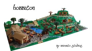 getlinkyoutube.com-LEGO Hobbiton MOC