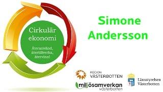 Miljösamverkan - Inspirerande halvdag om cirkulär ekonomi - Simone Andersson