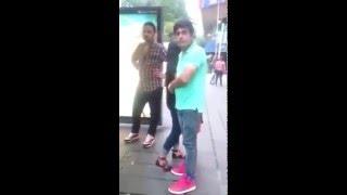 3 Men bullying 1 Pinoy lady