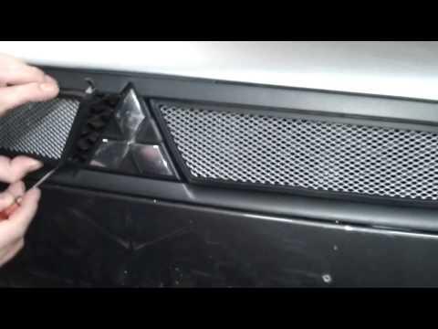 Защитная сетка радиатора Mitsubishi Lancer X шт chrome