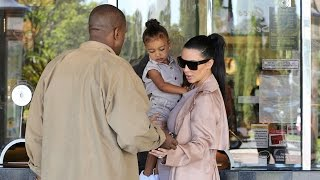 getlinkyoutube.com-EXCLUSIVE - Kim And Kanye Take Adorable Nori To Movies In Matching Colors