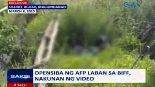 getlinkyoutube.com-Saksi: Opensiba ng AFP laban sa BIFF,nakunan ng video