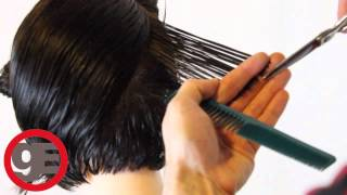 BOB HAIRCUT with graduation - How To Cut Graduated Bob Haircut Step By Step - Classic Graduation width=
