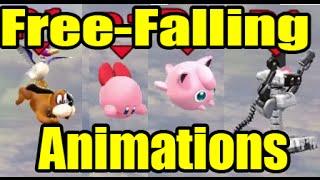 getlinkyoutube.com-All Free-Falling Animations in Super Smash Bros Wii U