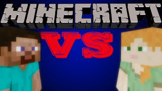 getlinkyoutube.com-Steve VS Alex - Minecraft