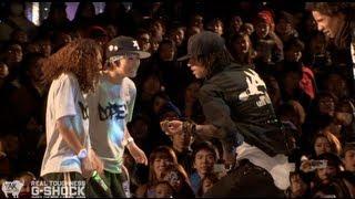 getlinkyoutube.com-Les Twins vs Rush Ball G-SHOCK REAL TOUGHNESS Japan 2012 | YAK FILMS