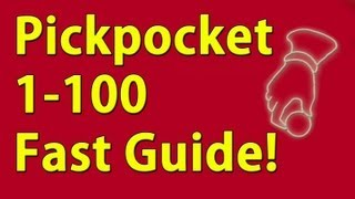 Pickpocket 1-100 Guide Skyrim Fastest way to level!