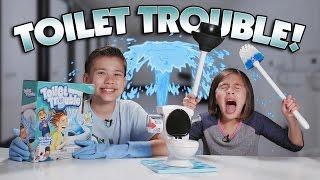 getlinkyoutube.com-TOILET TROUBLE CHALLENGE!!! w/ SLOW-MO Flush Cam!