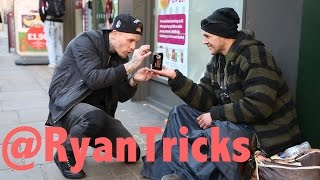 getlinkyoutube.com-Magician makes Homeless man's wish come True.