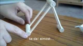 getlinkyoutube.com-How to make a quickie wooden phone stand on the cheap out of dowels