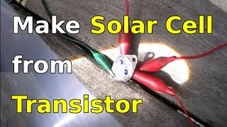 getlinkyoutube.com-How to Make Solar Cells using Transistors (2N3055)
