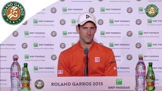 getlinkyoutube.com-Press conference Novak Djokovic 2015 French Open / Final