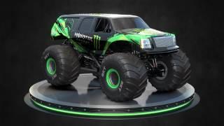 2017 Monster Energy Monster Jam truck - SUV and Pickup body style reveal