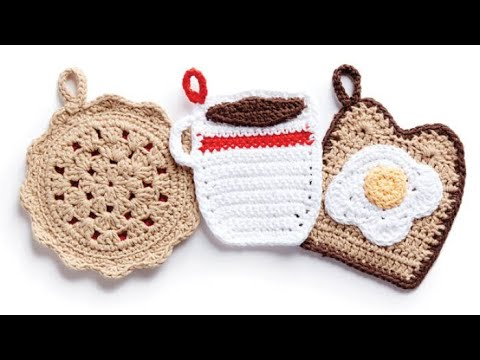 How to Crochet A Pot Holder: Coffee Cup