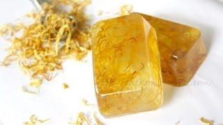getlinkyoutube.com-Jak zrobić mydło glicerynowe z nagietkiem