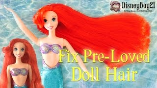 getlinkyoutube.com-How to Fix & Restore Damaged Pre-loved Old Doll Hair & Straighten Tutorial - BOIL WASH