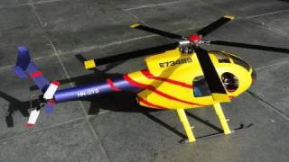 getlinkyoutube.com-Micro RC Scale Helicopter MD500E (Align T-Rex 250 Size) Custom Rotorhead and Lights