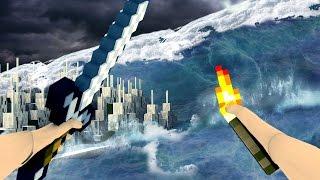 getlinkyoutube.com-Minecraft | REALISTIC MINECRAFT TSUNAMI! Tsunami Natural Disaster Mod!