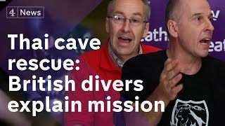 Thai-cave-rescue-press-conference-British-divers-explain-how-they-helped-save-boys width=