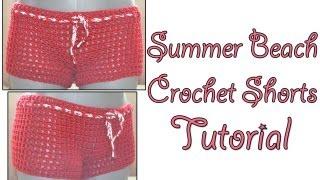 getlinkyoutube.com-Crochet Tutorial - Beach Shorts Simple and Quick Pattern