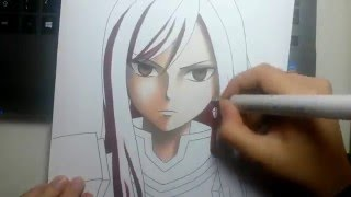 Speed Drawing - Erza Scarlet (Fairy Tail) /REMAKE of my first video