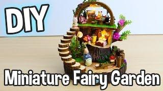 getlinkyoutube.com-DIY Miniature Fairy Garden Dollhouse Kit with Totoro, Gift Box and Working Lights!