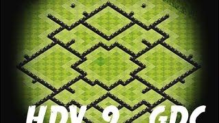Clash Of Clans - HDV 9 GDC (Speed Build) + Replays Anti Air, Gowipe, Hog