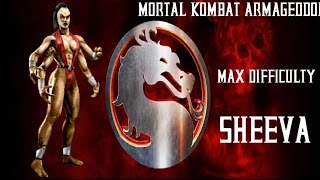Mortal Kombat Armageddon - Sheeva - Max Difficulty - No Matches Lost (Commentary)